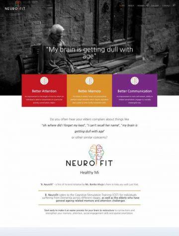 B Neurofit website design