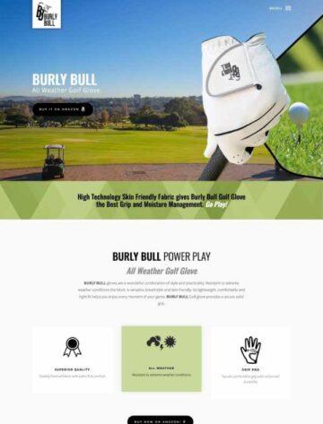 Burly Bull website design