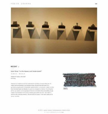 Pooja Iranna website design