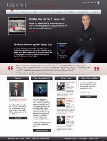 Rajiv Vij website design