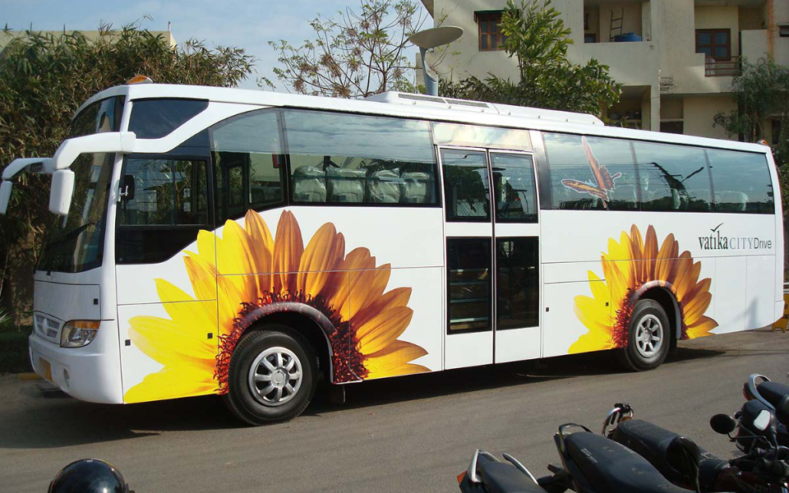 Vatika Group bus decal design