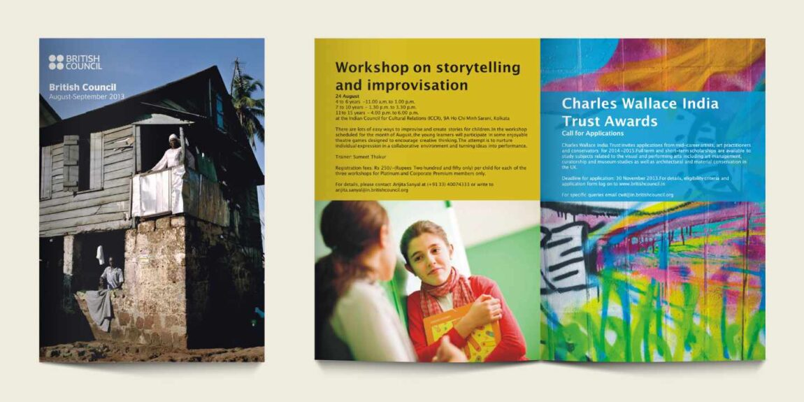 Events, newsletter design for British Council