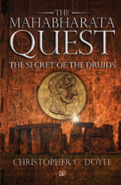 The Mahabharata Quest - The Secret of the Druids, book cover design for Christopher C Doyle