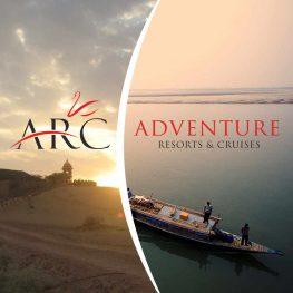 Adventure Resorts & Cruises brochure cover design