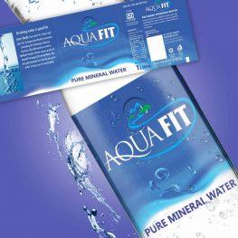 Aquafit label design