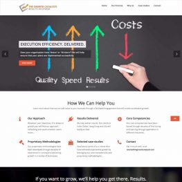 The Growth Catalysts website design